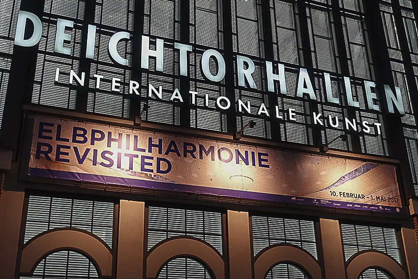 Deichtorhallen Elbphilharmonie Revisited Aussenwerbung