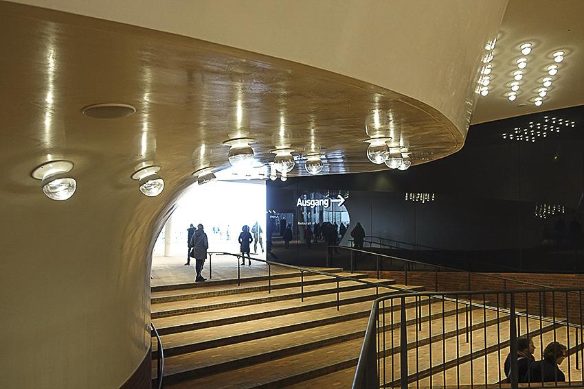 Die Plaza der Elbphilharmonie Hamburg Plaza