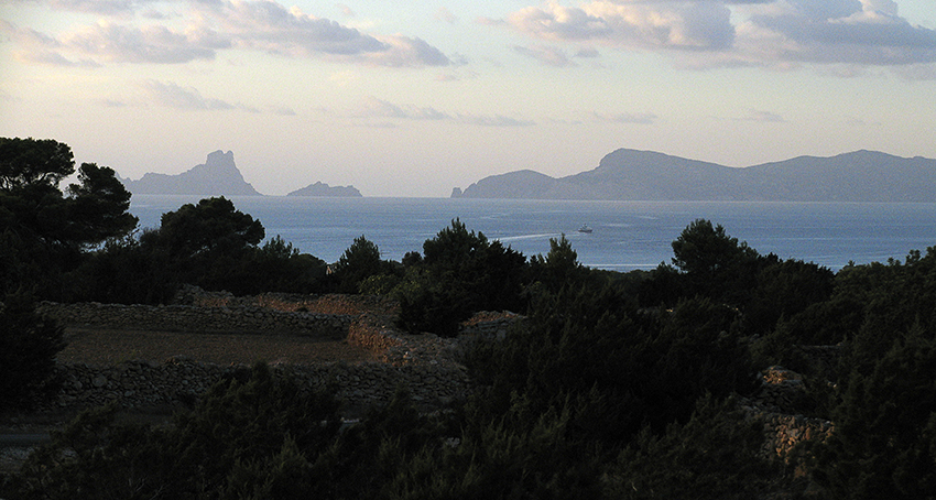 Adéu Formentera Blick vom Cap Richtung Ibiza