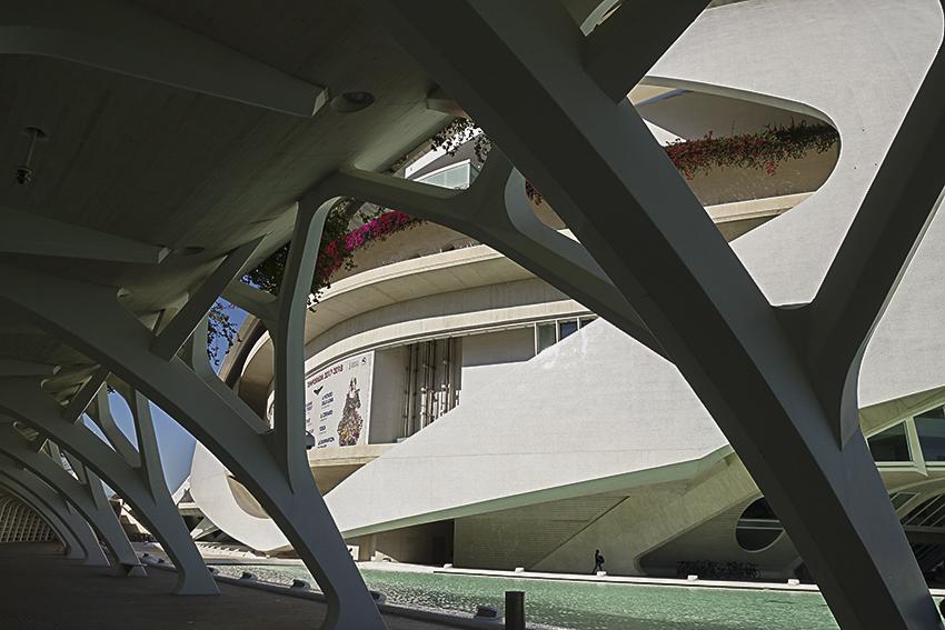Arcade Detail Valencia, Stadt der Künste und der Wissenschaften