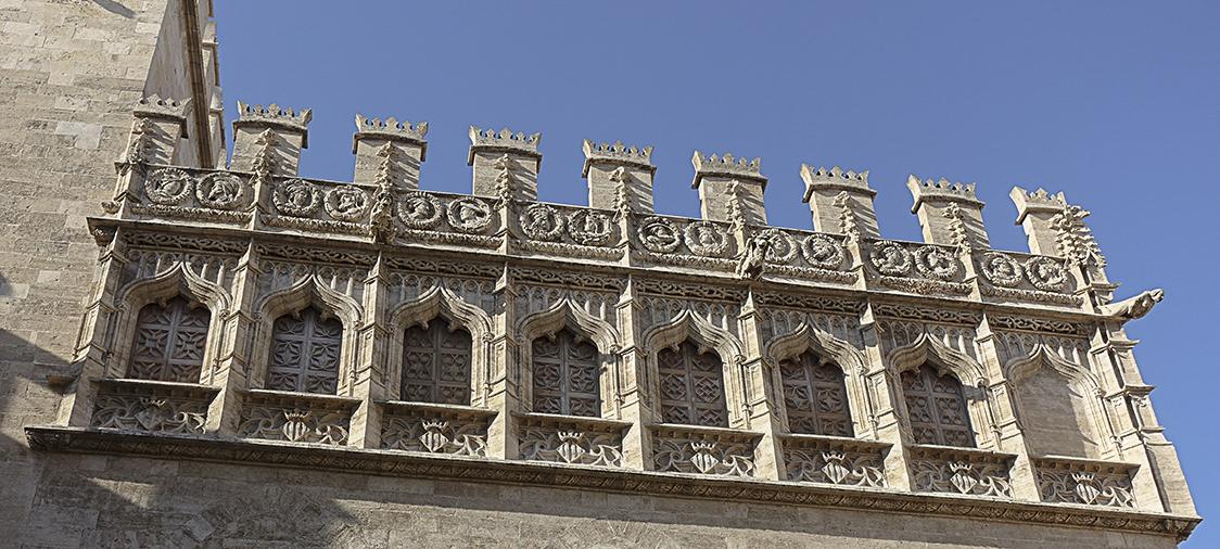 Seidenbörse Detail Valencia, Highlights der historischen Altstadt