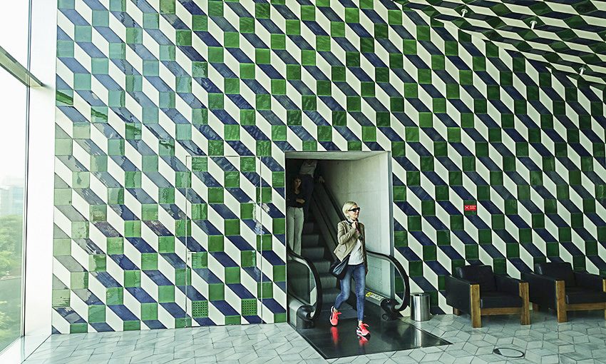 Casa da Música Porto kleines Foyer grün
