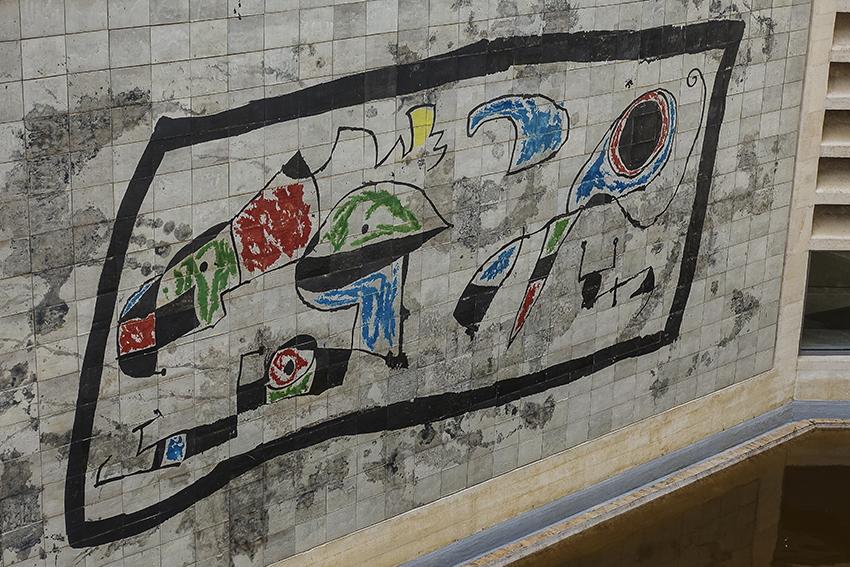 MIRÓ Fundació Pilar i Joan Miró a Mallorca Wandarbeit Kacheln MIRÓ Fundació Pilar i Joan Miró a Mallorca