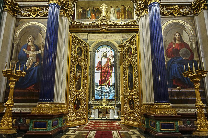 Zarenstadt Sankt Petersburg - Kathedralen Isaakkathedrale innen