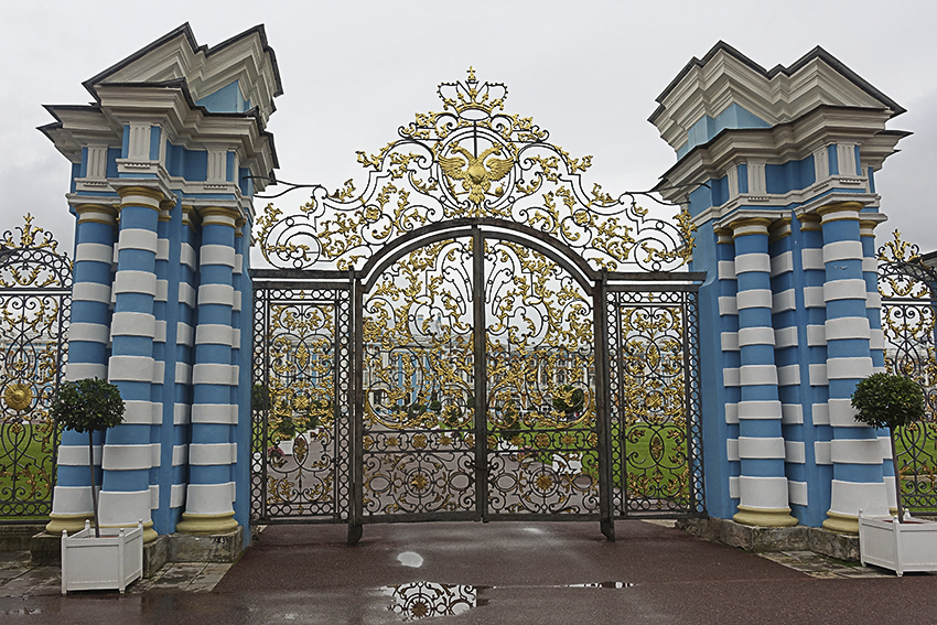 Zarenstadt Sankt Petersburg - Fabergé - Katharinenpalast Katharinenpalst Goldene Tor