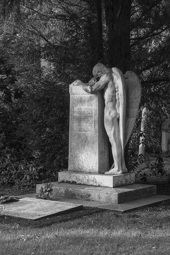 Ohlsdorfer Friedhof Mann Engel
