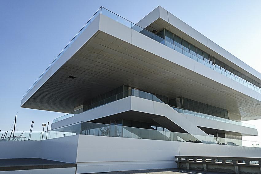 Moderne Architektur Hafen Valencia, die lebendige Stadt am Mittelmeer