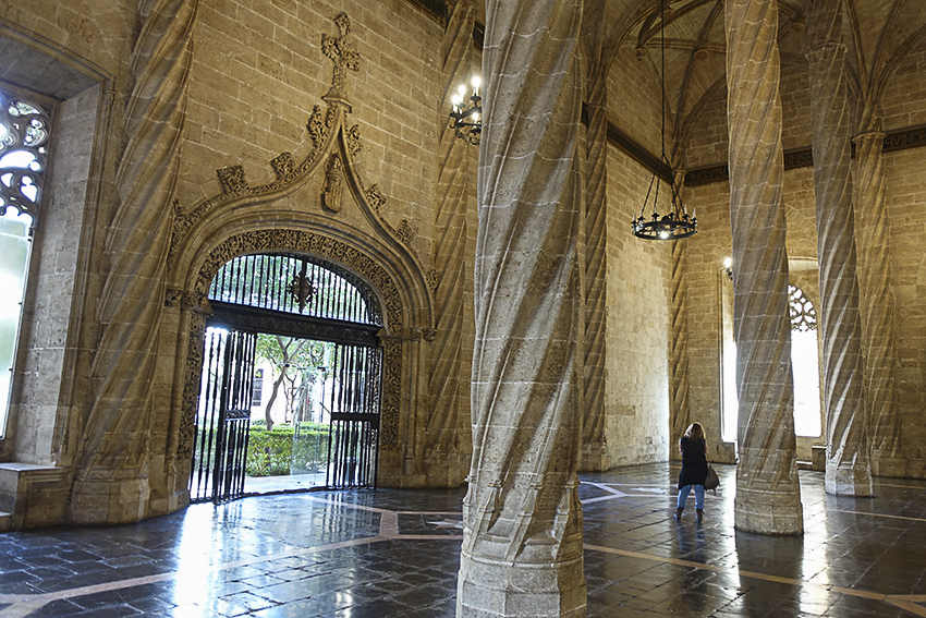 Seidenbörse innen Valencia, Highlights der historischen Altstadt